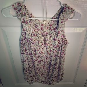 Floral frilly blouse tank top - Forever 21 Size L